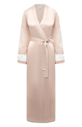 Женский шелковый халат MARJOLAINE светло-бежевого цвета, арт. 3MAR2201 | Фото 1