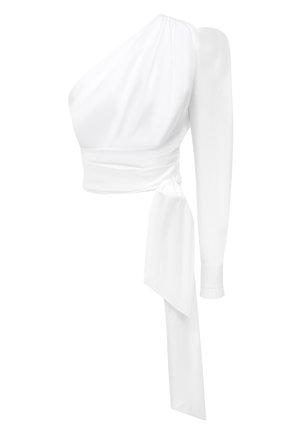 Женский хлопковый топ ALEXANDRE VAUTHIER белого цвета, арт. 211T01403 0192-1030 | Фото 1