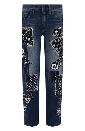 Женские джинсы RALPH LAUREN синего цвета, арт. 290840807 | Фото 1 (Материал внешний: Хлопок; Длина (брюки, джинсы): Стандартные; Детали: Потертости; Силуэт Ж (брюки и джинсы): Прямые; Стили: Романтичный; Кросс-КТ: Деним)
