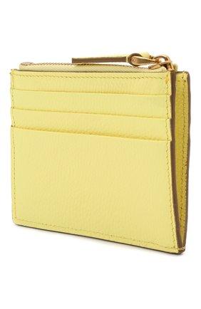 Женский кожаный футляр для кредитных карт VALENTINO желтого цвета, арт. VW0P0U20/RQR | Фото 2