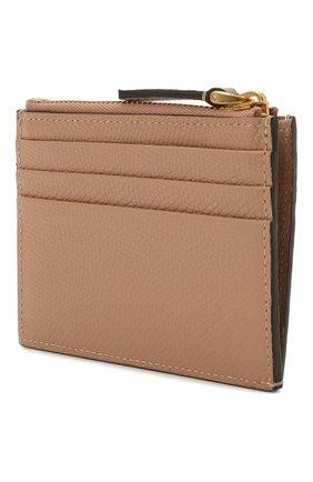 Женский кожаный футляр для кредитных карт VALENTINO бежевого цвета, арт. VW0P0U20/RQR   Фото 2