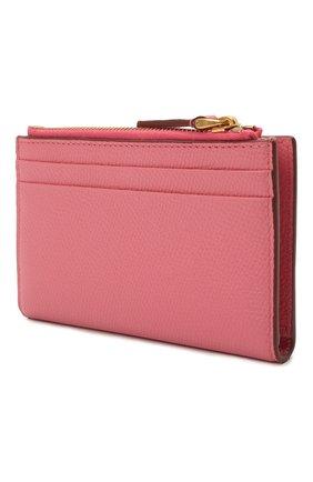 Женский кожаный футляр для кредитных карт VALENTINO розового цвета, арт. VW0P0T46/RQR   Фото 2