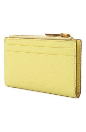 Женский кожаный футляр для кредитных карт VALENTINO желтого цвета, арт. VW0P0T46/RQR | Фото 2