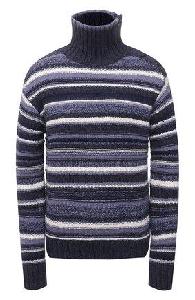 Женский хлопковый свитер POLO RALPH LAUREN синего цвета, арт. 211827536   Фото 1