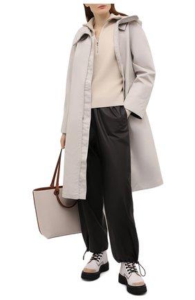 Женские кожаные ботинки R13 белого цвета, арт. R13S0015-004   Фото 2