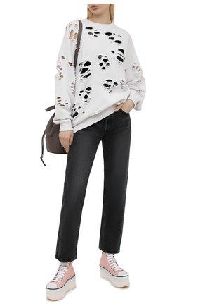Женские текстильные кеды R13 розового цвета, арт. R13S0071-PNK | Фото 2