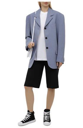 Женские текстильные кеды DSQUARED2 черного цвета, арт. SNW0129 25404120 | Фото 2
