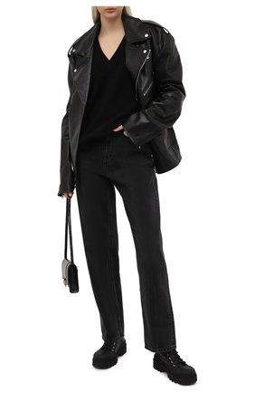 Женские джинсы DENIM X ALEXANDER WANG серого цвета, арт. 4DC1214871   Фото 2