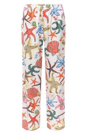 Женские шелковые брюки VERSACE белого цвета, арт. AUD05057/1F01193 | Фото 1