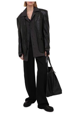 Женский кожаный жакет R13 черного цвета, арт. R13W8081-STA | Фото 2