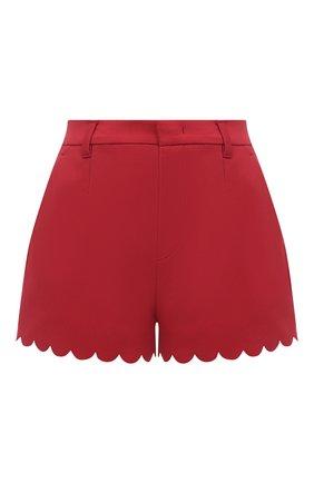 Женские хлопковые шорты REDVALENTINO красного цвета, арт. VR0RFF10/5S4 | Фото 1