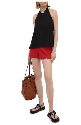 Женские хлопковые шорты REDVALENTINO красного цвета, арт. VR0RFF10/5S4 | Фото 2
