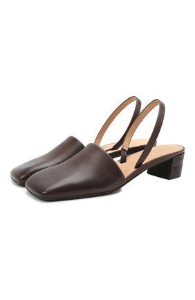 Женские кожаные туфли spatolina  MARSELL темно-коричневого цвета, арт. MW6379/PELLE VITELL0 | Фото 1