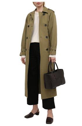 Женские кожаные туфли spatolina  MARSELL темно-коричневого цвета, арт. MW6379/PELLE VITELL0 | Фото 2