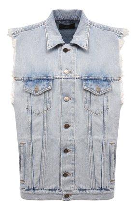 Женский джинсовый жилет ALANUI голубого цвета, арт. LWYP004S21DEN001 | Фото 1