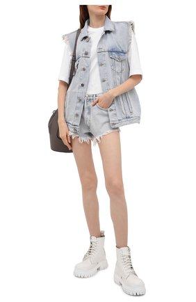 Женский джинсовый жилет ALANUI голубого цвета, арт. LWYP004S21DEN001 | Фото 2