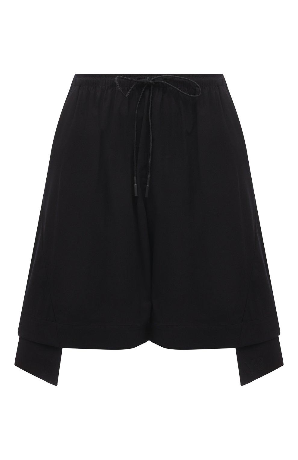 Женские шорты Y-3 черного цвета, арт. GV0353/W   Фото 1 (Женское Кросс-КТ: Шорты-одежда; Длина Ж (юбки, платья, шорты): Мини; Материал внешний: Синтетический материал; Стили: Спорт-шик)