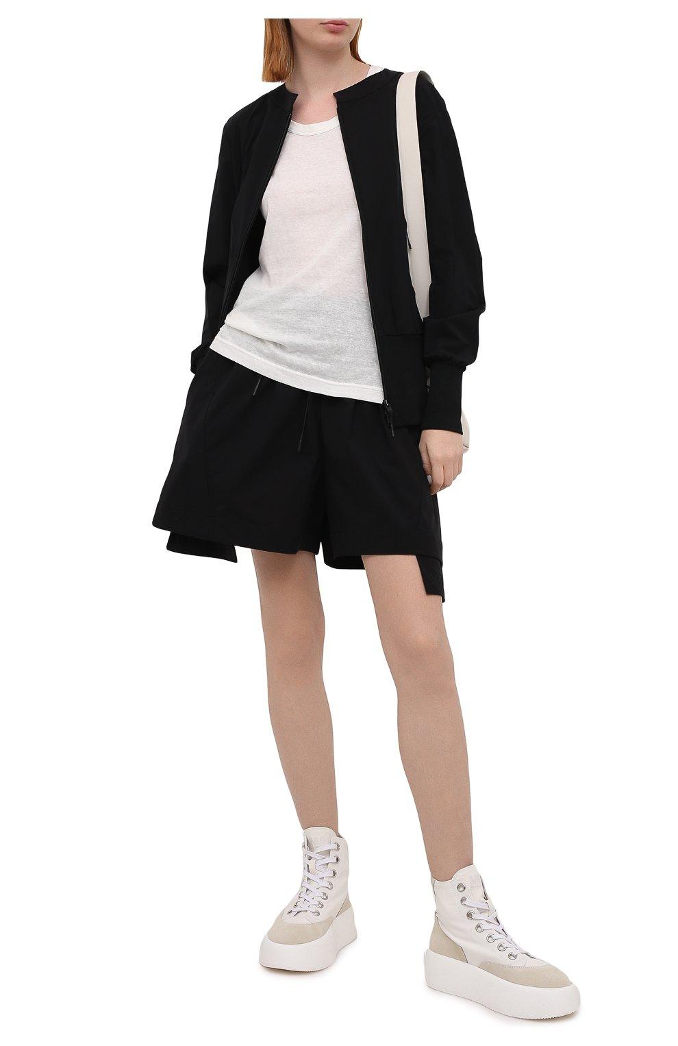 Женские шорты Y-3 черного цвета, арт. GV0353/W   Фото 2 (Женское Кросс-КТ: Шорты-одежда; Длина Ж (юбки, платья, шорты): Мини; Материал внешний: Синтетический материал; Стили: Спорт-шик)