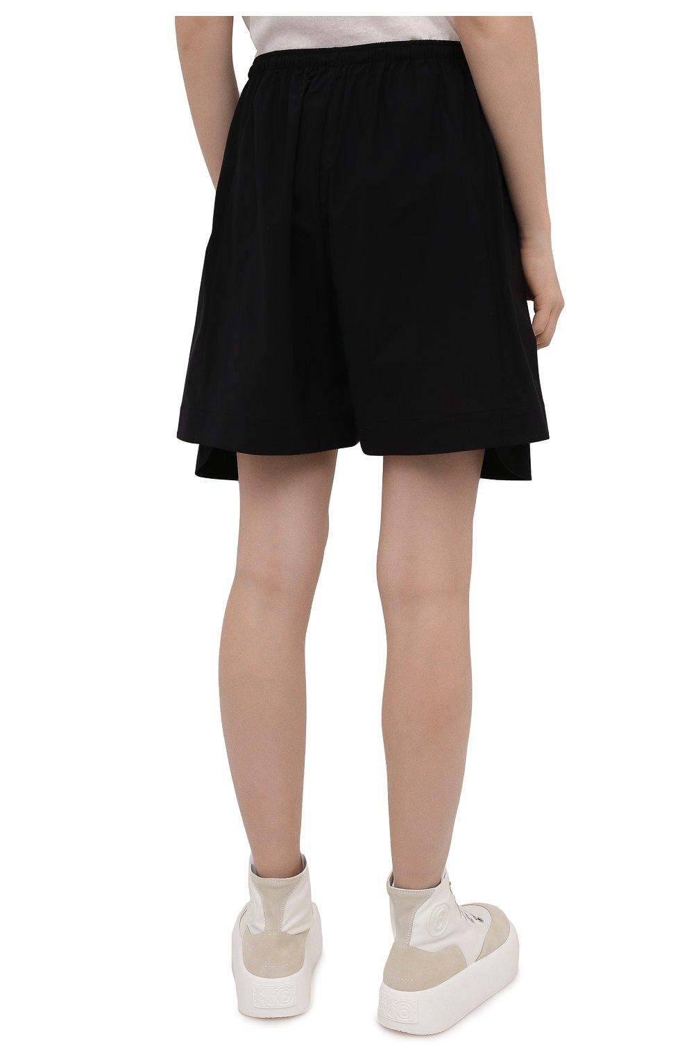 Женские шорты Y-3 черного цвета, арт. GV0353/W   Фото 4 (Женское Кросс-КТ: Шорты-одежда; Длина Ж (юбки, платья, шорты): Мини; Материал внешний: Синтетический материал; Стили: Спорт-шик)