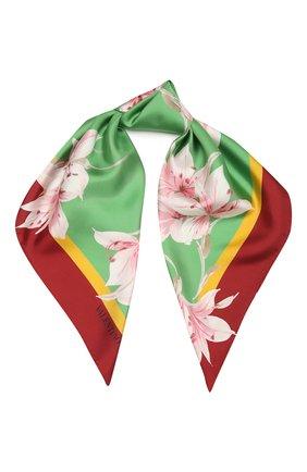 Женский шелковый платок VALENTINO зеленого цвета, арт. VW0EI114/JWJ | Фото 1
