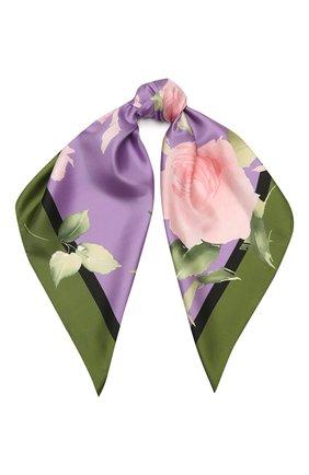 Женский шелковый платок VALENTINO фиолетового цвета, арт. VW0EI114/UFI | Фото 1