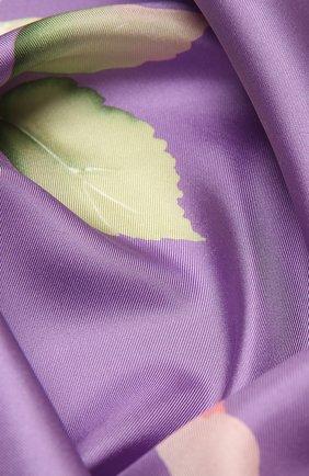 Женский шелковый платок VALENTINO фиолетового цвета, арт. VW0EI114/UFI | Фото 2