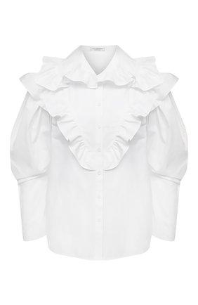 Женская хлопковая блузка PHILOSOPHY DI LORENZO SERAFINI белого цвета, арт. A0208/2119   Фото 1