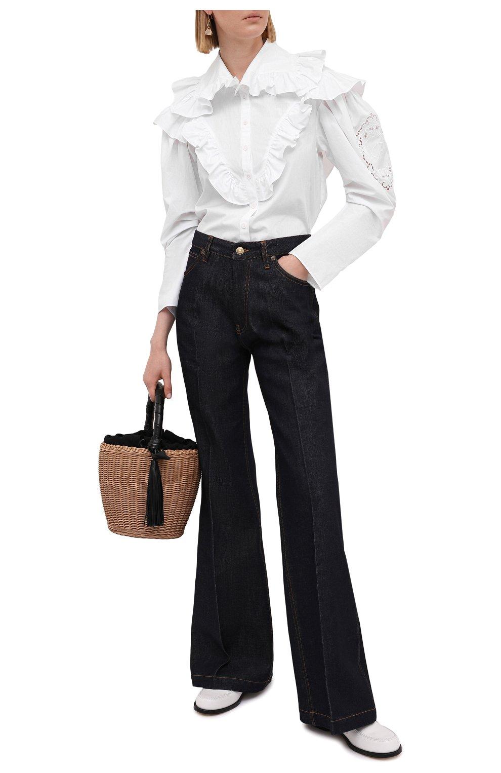 Женская хлопковая блузка PHILOSOPHY DI LORENZO SERAFINI белого цвета, арт. A0208/2119   Фото 2