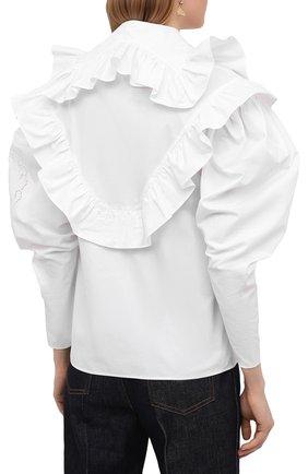 Женская хлопковая блузка PHILOSOPHY DI LORENZO SERAFINI белого цвета, арт. A0208/2119   Фото 4
