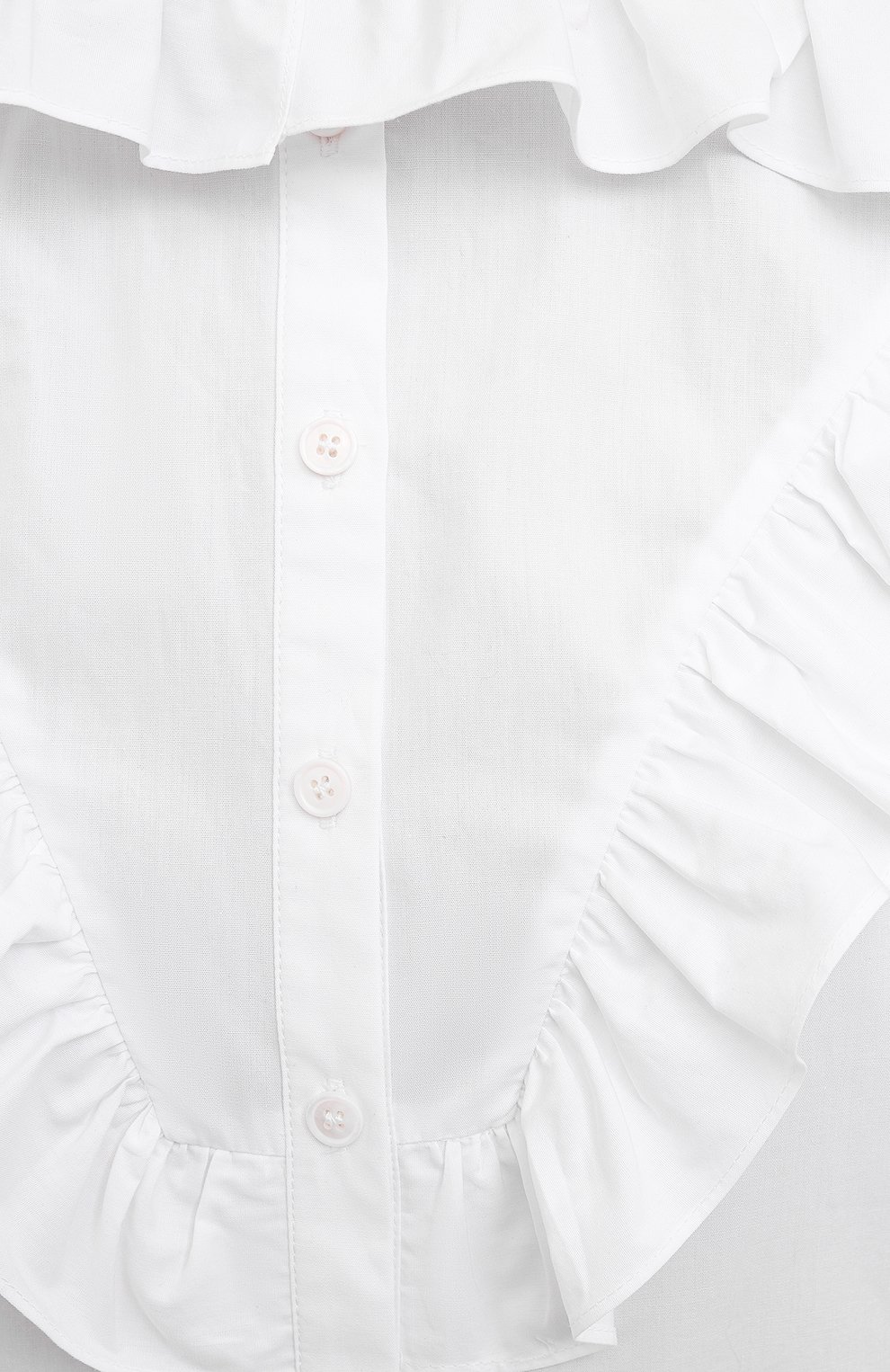 Женская хлопковая блузка PHILOSOPHY DI LORENZO SERAFINI белого цвета, арт. A0208/2119   Фото 5