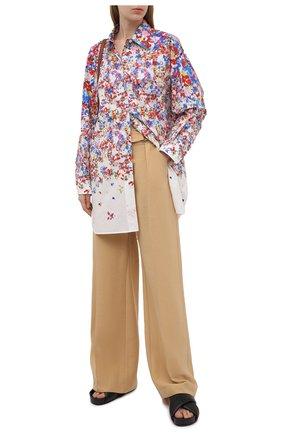 Женская хлопковая рубашка PHILOSOPHY DI LORENZO SERAFINI разноцветного цвета, арт. A0213/2143 | Фото 2