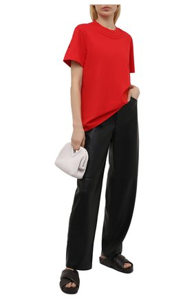 Женская хлопковая футболка GIVENCHY красного цвета, арт. BW707Z3Z4Z | Фото 2