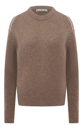 Женский свитер ACNE STUDIOS коричневого цвета, арт. A60259 | Фото 1
