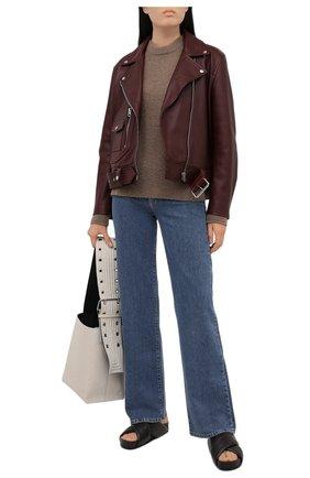Женский свитер ACNE STUDIOS коричневого цвета, арт. A60259 | Фото 2