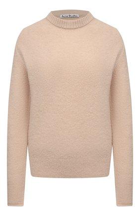 Женский свитер ACNE STUDIOS бежевого цвета, арт. A60259   Фото 1