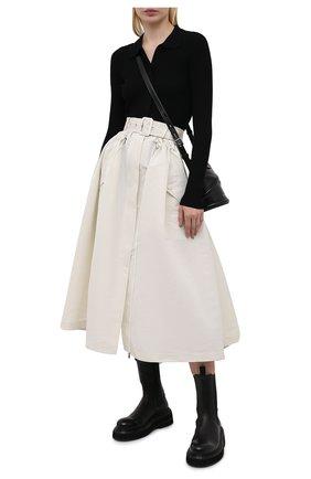 Женская юбка ALEXANDER MCQUEEN кремвого цвета, арт. 657001/QEACM | Фото 2
