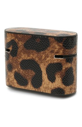 Кожаный чехол для airpods DOLCE & GABBANA коричневого цвета, арт. BI2816/AC068 | Фото 2