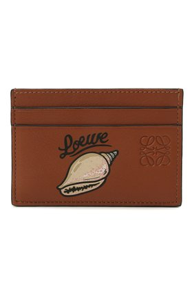 Женский кожаный футляр для кредитных карт loewe x paula's ibiza LOEWE коричневого цвета, арт. C643322X02   Фото 1
