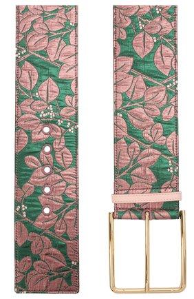 Женский текстильный ремень DOLCE & GABBANA разноцветного цвета, арт. BE1434/A0417   Фото 2