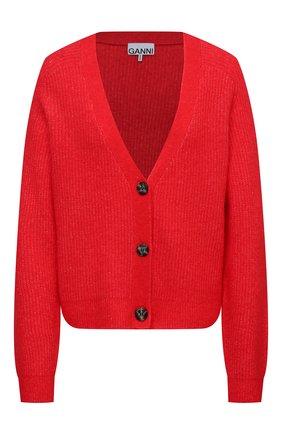 Женский кардиган GANNI красного цвета, арт. K1498 | Фото 1