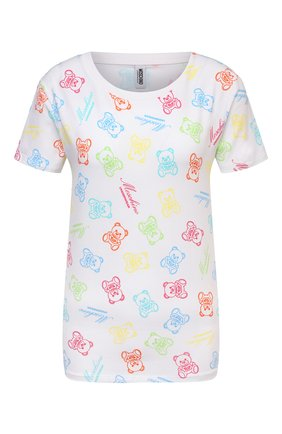 Женская хлопковая футболка MOSCHINO UNDERWEAR WOMAN белого цвета, арт. A1905/9008 | Фото 1