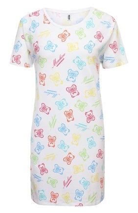 Женская хлопковая футболка MOSCHINO UNDERWEAR WOMAN белого цвета, арт. A1907/9008 | Фото 1