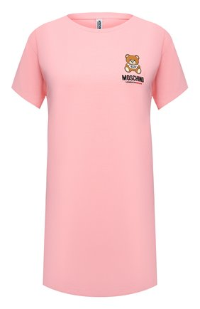 Женская хлопковая футболка MOSCHINO UNDERWEAR WOMAN розового цвета, арт. A1910/9021 | Фото 1