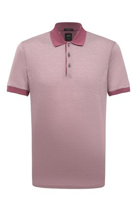 Мужское хлопковое поло BOSS розового цвета, арт. 50451060   Фото 1