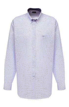 Мужская хлопковая рубашка PAUL&SHARK голубого цвета, арт. 21413260/C00 | Фото 1