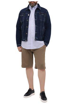 Мужская хлопковая рубашка PAUL&SHARK голубого цвета, арт. 21413260/C00 | Фото 2
