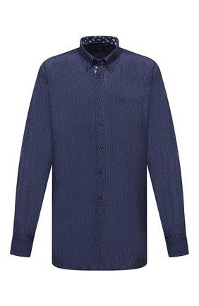 Мужская льняная рубашка PAUL&SHARK синего цвета, арт. 21413462/F7E/48-50   Фото 1