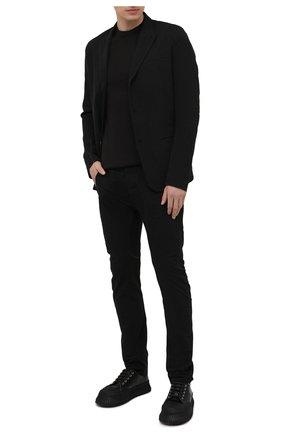 Мужской пиджак из хлопка и льна MASNADA черного цвета, арт. M2601R   Фото 2