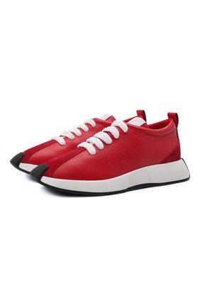 Мужские кожаные кроссовки ferox GIUSEPPE ZANOTTI DESIGN красного цвета, арт. RM10014/004 | Фото 1