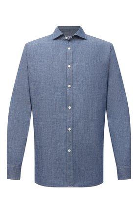 Мужская хлопковая рубашка JACOB COHEN голубого цвета, арт. J8066 05308-L/55   Фото 1